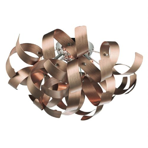 Rawley 4 Light Ribbon Flush Satin Copper RAW0464